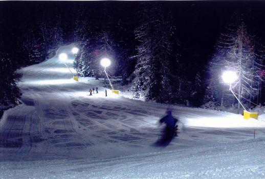 Sci notturno Colverde Pale di San Martino